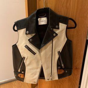 Coach two tone Leather Vest